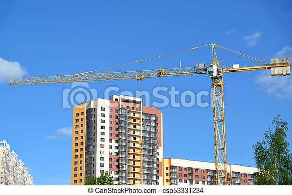 construction of a multi-storey residential house - csp53331234