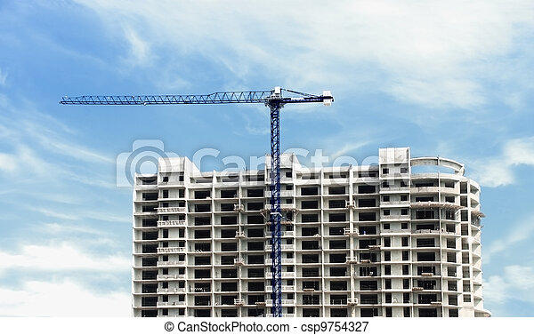 construction of a multistory building - csp9754327