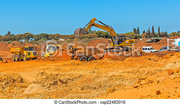 Construction of a residential area. - csp22483016
