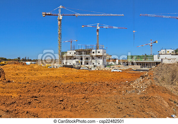 Construction of a residential area. - csp22482501