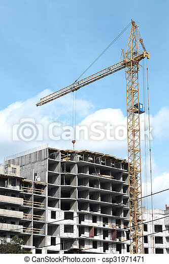 construction of a residential house - csp31971471