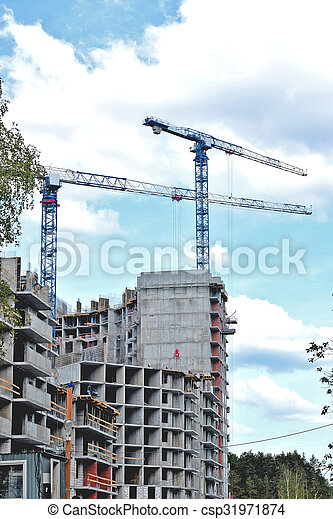 construction of a residential house - csp31971874