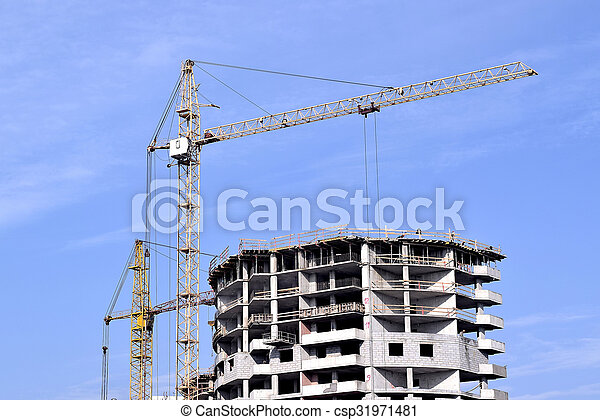 construction of a residential house - csp31971481