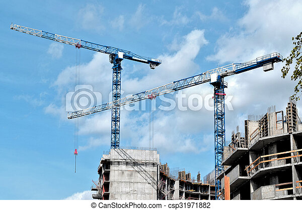 construction of a residential house - csp31971882