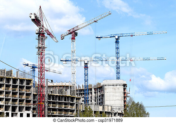 construction of a residential house - csp31971889