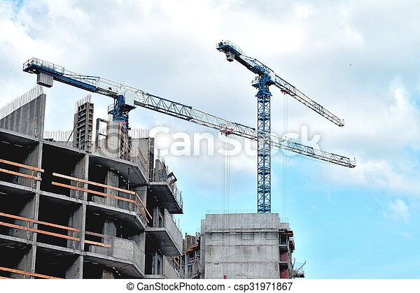 construction of a residential house - csp31971867