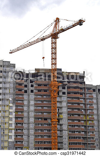 construction of a residential house - csp31971442