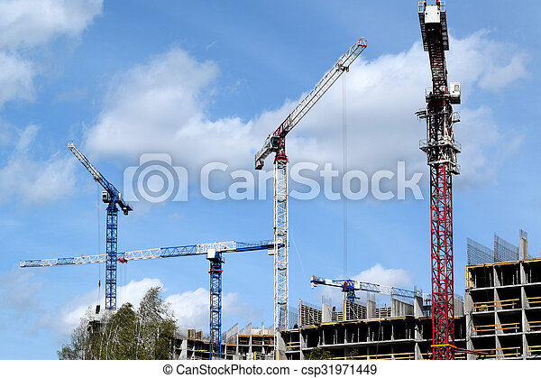construction of a residential house - csp31971449