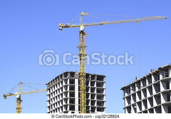 construction of a residential house - csp32128824