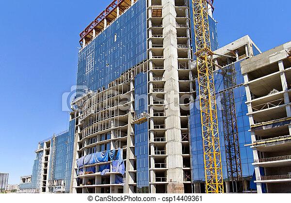 construction of multi-storey building - csp14409361