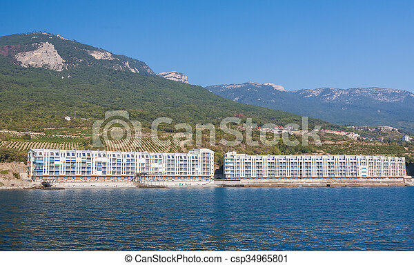 Construction of new buildings on the coast - csp34965801