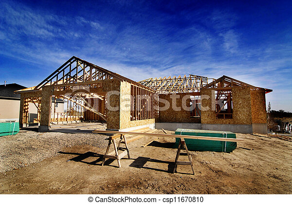 Construction of New Home - csp11670810