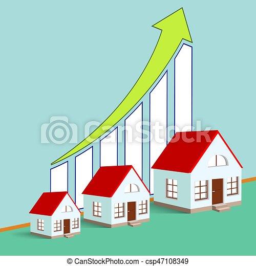 Construction Of Real Estate Growth Chart Stock Vector Illustration