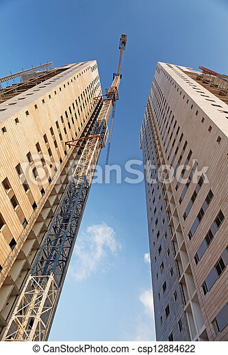 construction of residential  - csp12884622