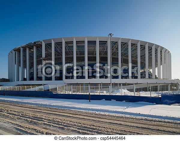Construction of stadium in Nizhny Novgorod - csp54445464