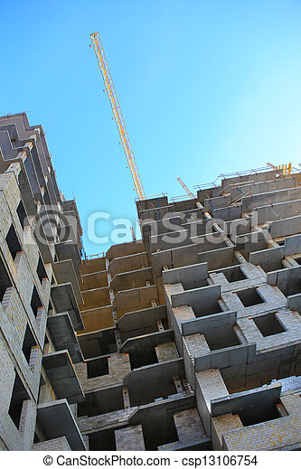 construction of the high-rise building - csp13106754
