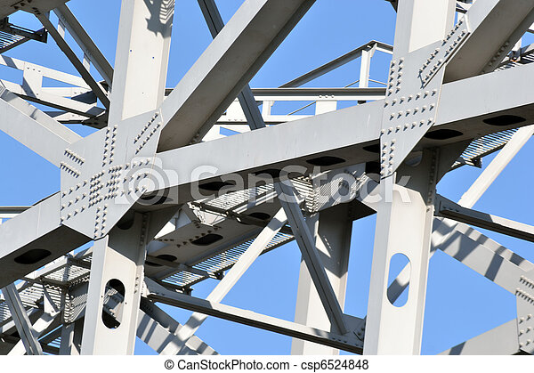 Construction on blue sky background . - csp6524848