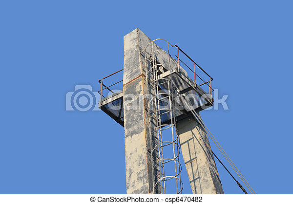 Construction on blue sky background . - csp6470482