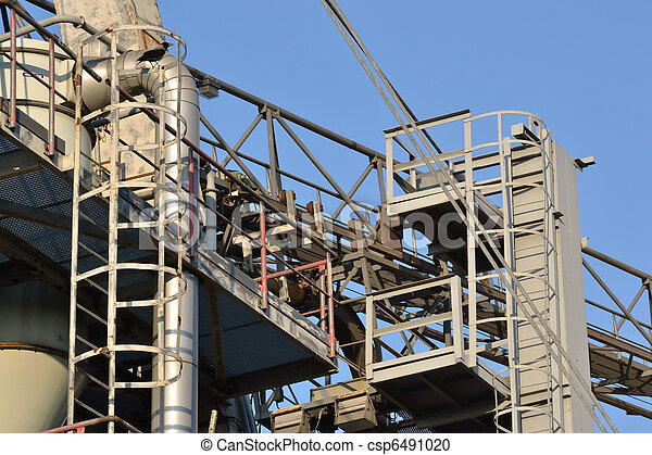 Construction on blue sky background . - csp6491020