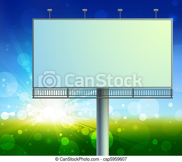 construction on green field background - csp5959607