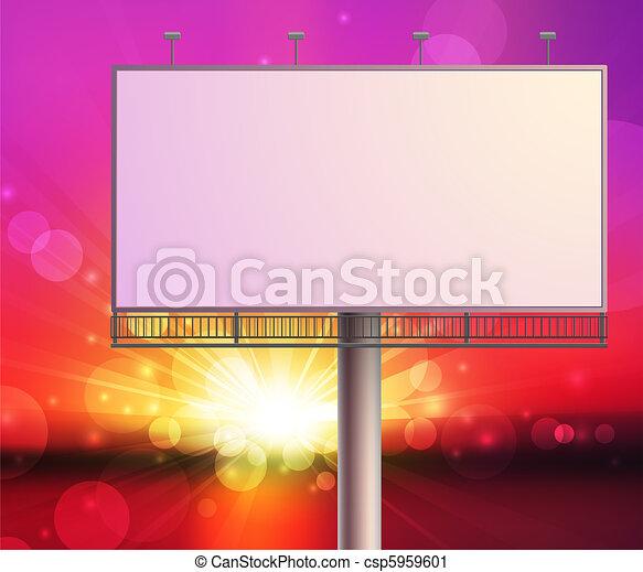 construction on sunset sky background - csp5959601