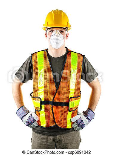 construction, porter, ouvrier, sécurité - csp6091042
