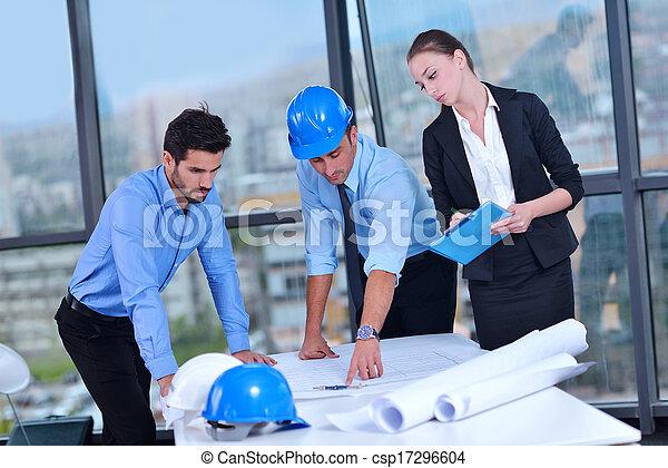 construction, réunion, ingénieurs, professionnels - csp17296604