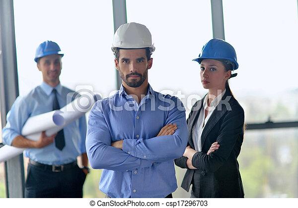 construction, réunion, ingénieurs, professionnels - csp17296703