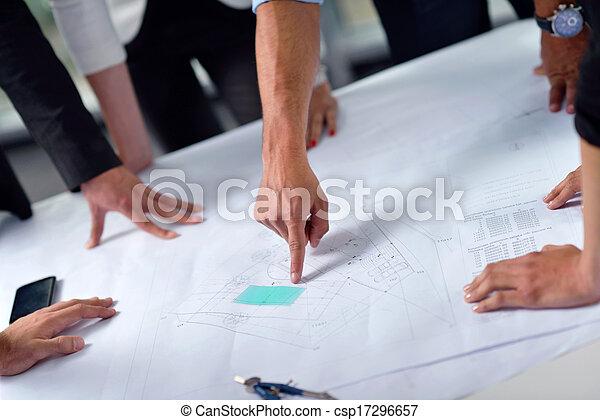 construction, réunion, ingénieurs, professionnels - csp17296657