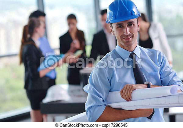 construction, réunion, ingénieurs, professionnels - csp17296545