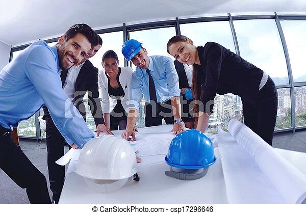 construction, réunion, ingénieurs, professionnels - csp17296646