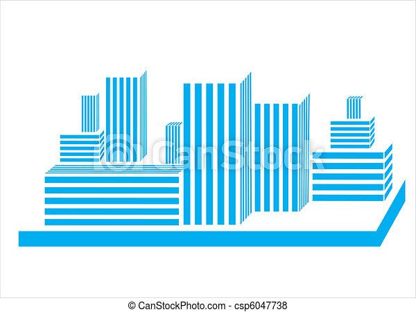 construction real estate icon - csp6047738