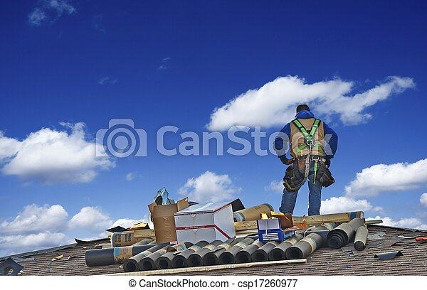 Construction Roofer Worker  - csp17260977