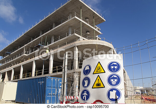 construction sign security - csp10095700