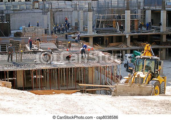 construction site and bulldozer - csp8038586