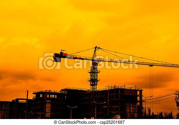 Construction site crane - csp25201687