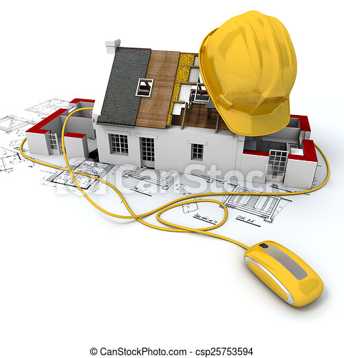 Construction site in yellow - csp25753594