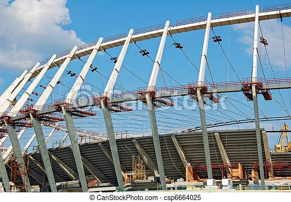 Construction site of football stadi - csp6664025