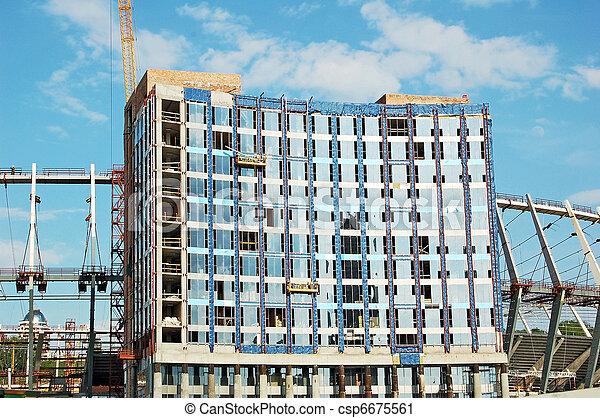 Construction site of stadium - csp6675561