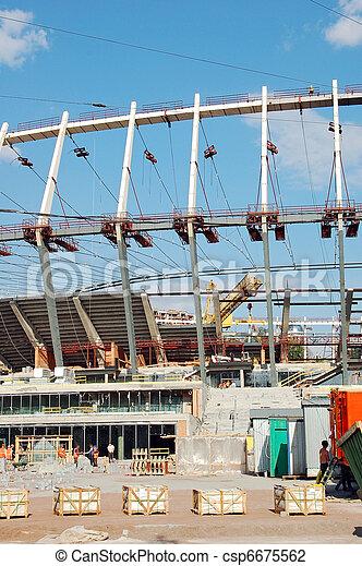 Construction site of stadium - csp6675562