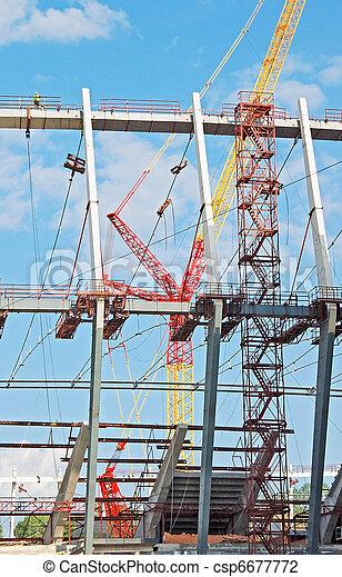 Construction site of stadium - csp6677772