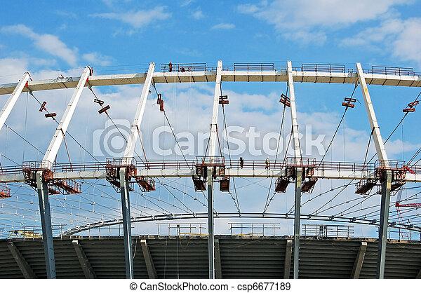 Construction site of stadium - csp6677189