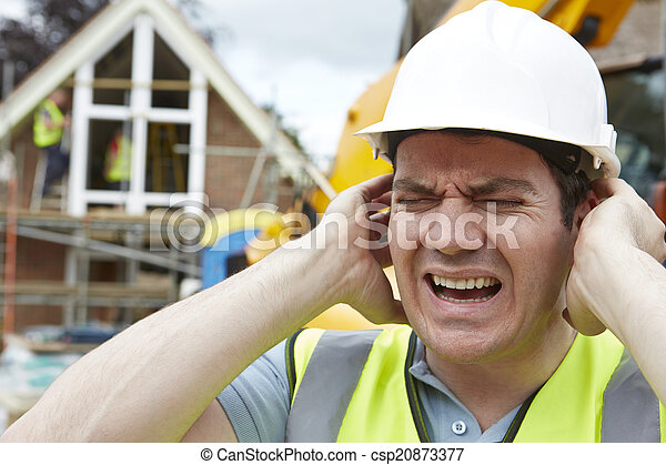 Construction Suffering From Noise Pollution On Building Site - csp20873377