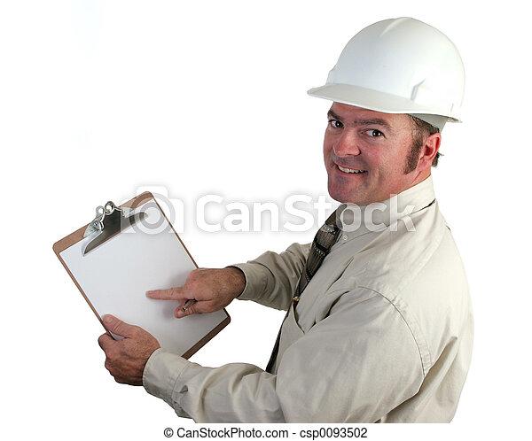 Construction Supervisor Happy - csp0093502