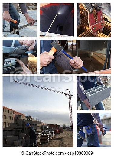 Construction themed collage - csp10383069