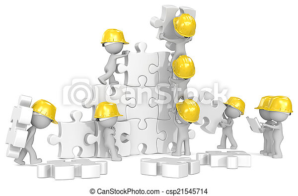 Construction time. - csp21545714
