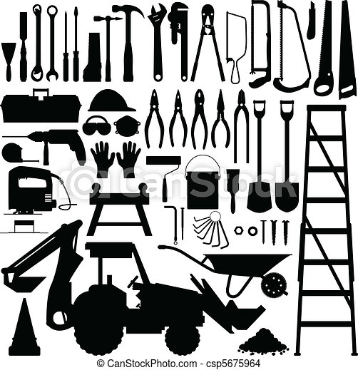 Construction Tool Silhouette Vector - csp5675964