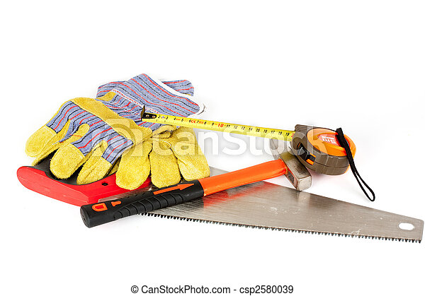 Construction tools isolated on white background - csp2580039