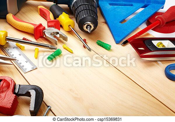 Construction tools. - csp15369831