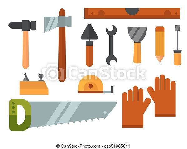 Construction tools worker equipment house renovation ...